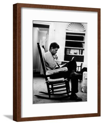 President John F. Kennedy Sitting Alone Thoughtfully in His Rocking Chair in the  sc 1 st  Art.com & President John F. Kennedy Sitting Alone Thoughtfully in His ...