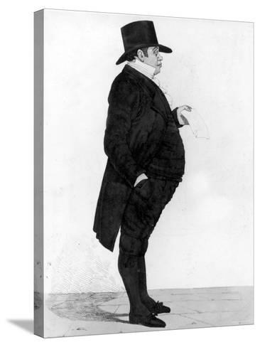 Portrait of British Banker Nathan Meyer Rothschild--Stretched Canvas Print