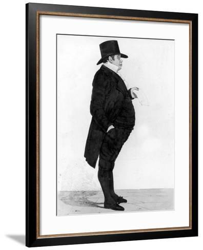 Portrait of British Banker Nathan Meyer Rothschild--Framed Art Print