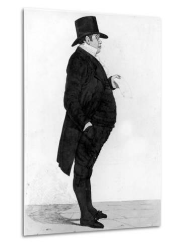 Portrait of British Banker Nathan Meyer Rothschild--Metal Print