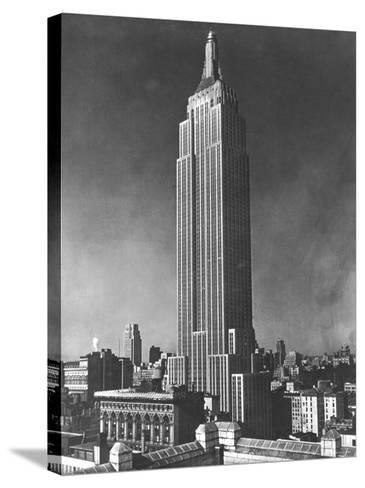 View of the Empire State Building in New York City--Stretched Canvas Print