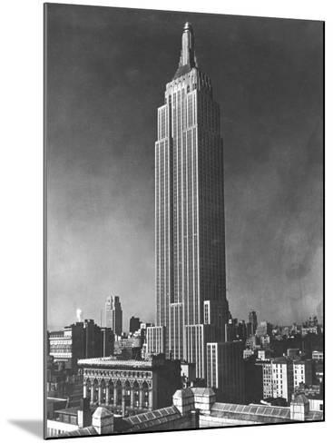 View of the Empire State Building in New York City--Mounted Photographic Print