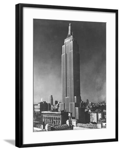 View of the Empire State Building in New York City--Framed Art Print