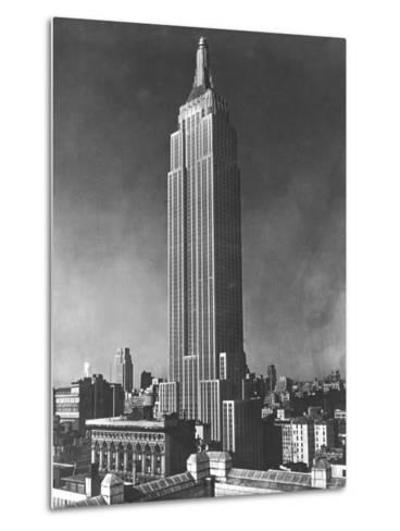 View of the Empire State Building in New York City--Metal Print