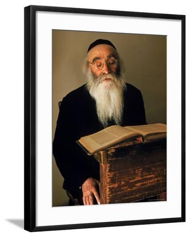 Rabbi Reading the Talmud-Alfred Eisenstaedt-Framed Art Print