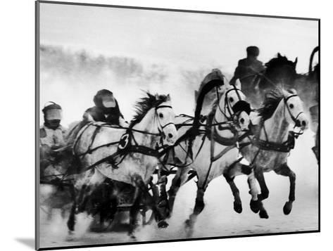 Troika Race at Hippodrome-Stan Wayman-Mounted Photographic Print