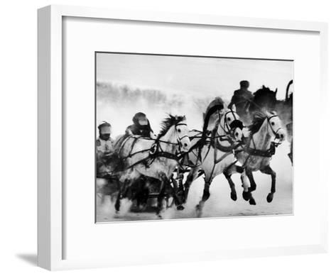 Troika Race at Hippodrome-Stan Wayman-Framed Art Print