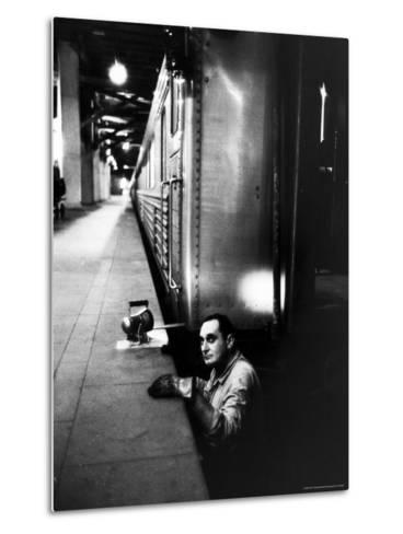 Track Man on New York New Haven Line in Grand Central Station-Alfred Eisenstaedt-Metal Print