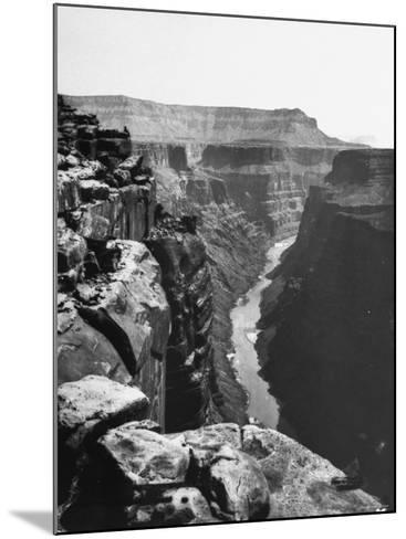 View of Colorado River Cutting Through Grand Canyon--Mounted Photographic Print