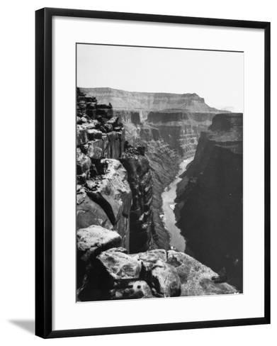 View of Colorado River Cutting Through Grand Canyon--Framed Art Print