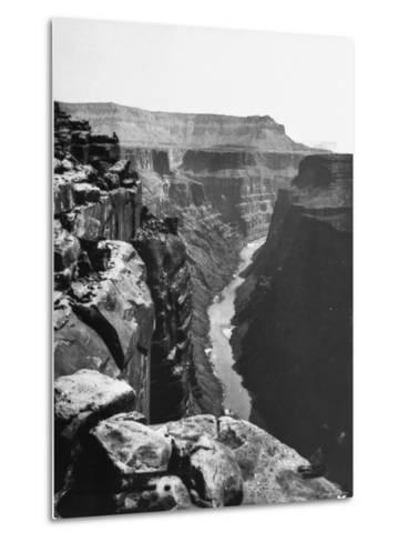 View of Colorado River Cutting Through Grand Canyon--Metal Print