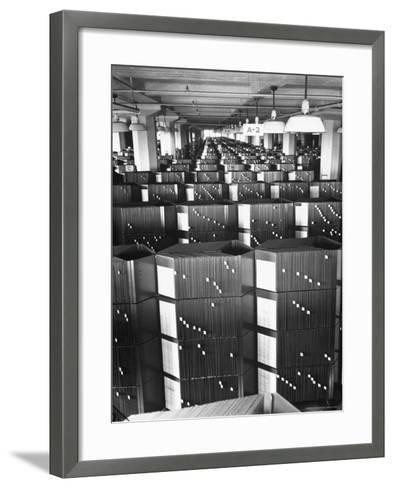 Room Containing the Visible Index Files at the Social Security Board-Thomas D^ Mcavoy-Framed Art Print