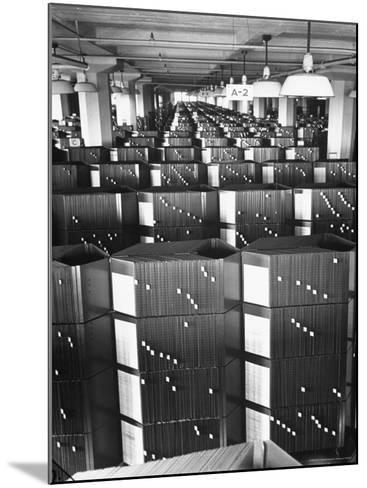 Room Containing the Visible Index Files at the Social Security Board-Thomas D^ Mcavoy-Mounted Photographic Print