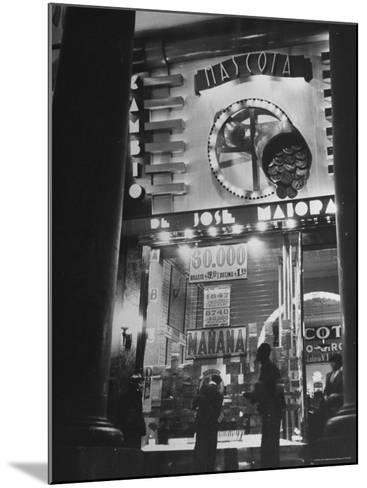View Showing the Exterior of the Biggest Montevideo Place For Selling Lottery Tickets-Hart Preston-Mounted Photographic Print