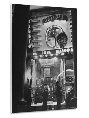 View Showing the Exterior of the Biggest Montevideo Place For Selling Lottery Tickets-Hart Preston-Metal Print
