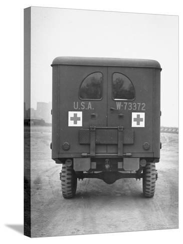 Rear View of Ambulance-George Strock-Stretched Canvas Print