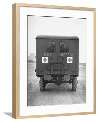 Rear View of Ambulance-George Strock-Framed Art Print