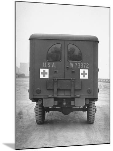 Rear View of Ambulance-George Strock-Mounted Photographic Print