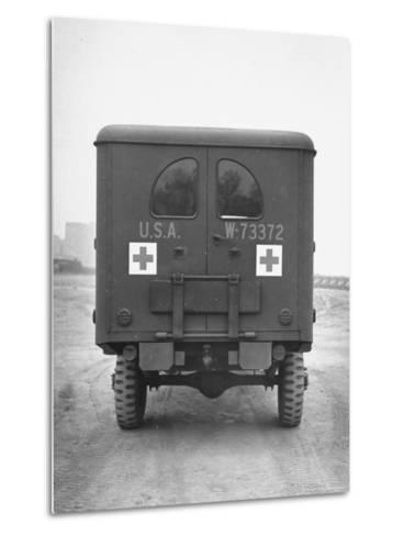 Rear View of Ambulance-George Strock-Metal Print