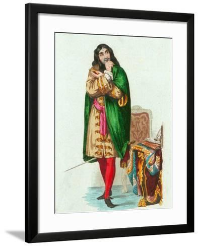 Portrait of French Actor and Dramatist Moliere Pseudonym of Jean Baptiste Poquelin--Framed Art Print