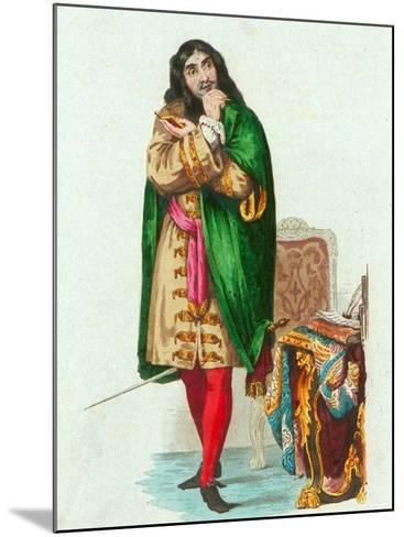 Portrait of French Actor and Dramatist Moliere Pseudonym of Jean Baptiste Poquelin--Mounted Photographic Print