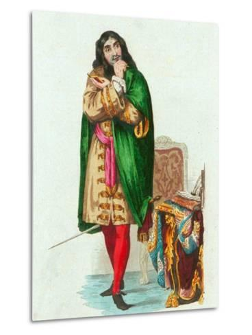Portrait of French Actor and Dramatist Moliere Pseudonym of Jean Baptiste Poquelin--Metal Print