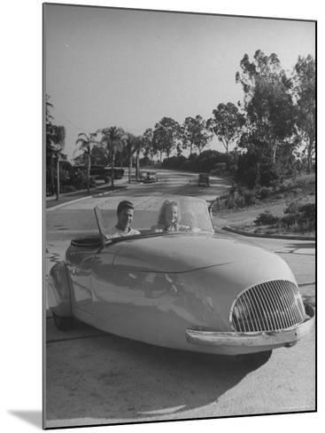 Young People Driving a Three Wheeled Auto-Nina Leen-Mounted Photographic Print