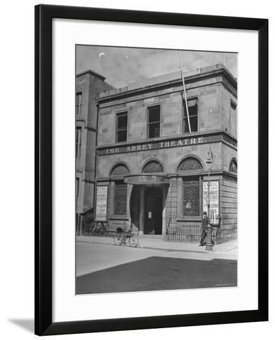 View of the Abby Theater in Dublin-Hans Wild-Framed Art Print