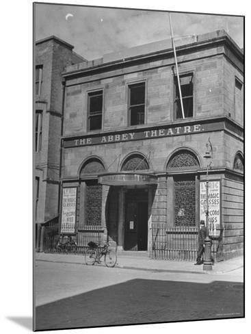 View of the Abby Theater in Dublin-Hans Wild-Mounted Photographic Print