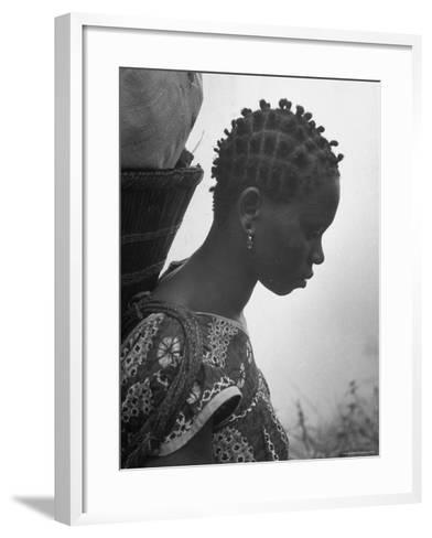 Woman Carrying a Full Basket on Her Back-Eliot Elisofon-Framed Art Print