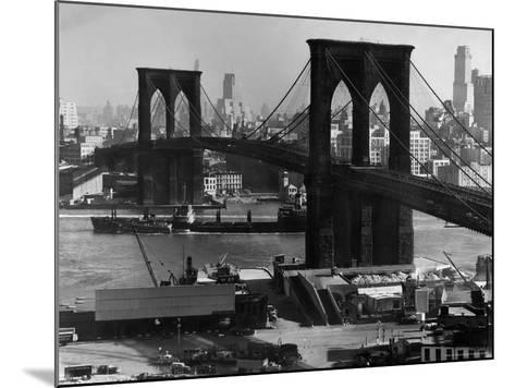 View of the Brooklyn Bridge Looking Toward Brooklyn-Andreas Feininger-Mounted Photographic Print