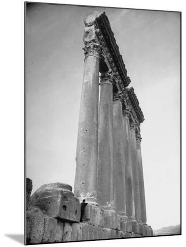 The Great Columns of the Temple of Jupiter in Ruins-Margaret Bourke-White-Mounted Photographic Print