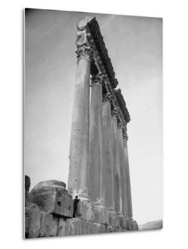 The Great Columns of the Temple of Jupiter in Ruins-Margaret Bourke-White-Metal Print