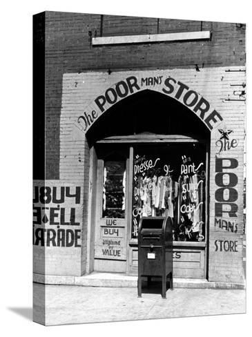Window of the Poor Man's Store on Beale Street in Memphis-Alfred Eisenstaedt-Stretched Canvas Print