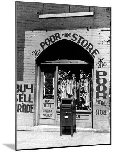 Window of the Poor Man's Store on Beale Street in Memphis-Alfred Eisenstaedt-Mounted Photographic Print
