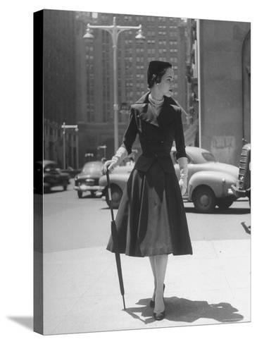 Town Suit, Triangular Button Closings, Can Be Worn All Year Round-Nina Leen-Stretched Canvas Print