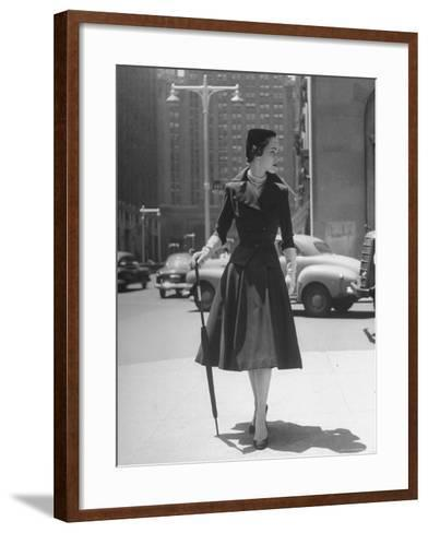 Town Suit, Triangular Button Closings, Can Be Worn All Year Round-Nina Leen-Framed Art Print