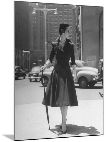 Town Suit, Triangular Button Closings, Can Be Worn All Year Round-Nina Leen-Mounted Photographic Print