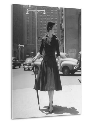 Town Suit, Triangular Button Closings, Can Be Worn All Year Round-Nina Leen-Metal Print