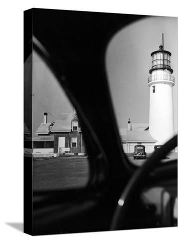 Summer at Cape Cod: Highland Lighthouse Viewed from Automobile-Alfred Eisenstaedt-Stretched Canvas Print