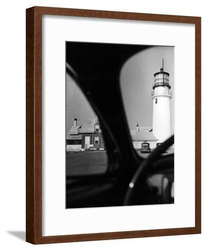 Summer at Cape Cod: Highland Lighthouse Viewed from Automobile-Alfred Eisenstaedt-Framed Art Print