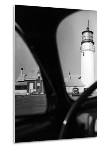 Summer at Cape Cod: Highland Lighthouse Viewed from Automobile-Alfred Eisenstaedt-Metal Print