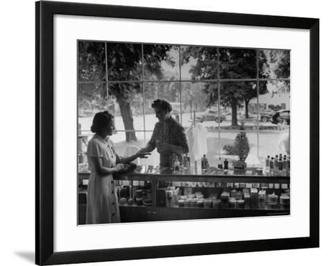 Woman Shopping For Cosmetics-Alfred Eisenstaedt-Framed Art Print
