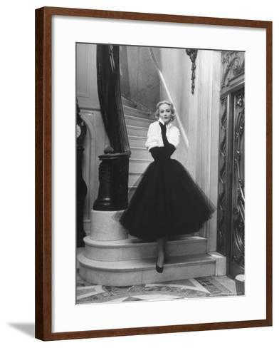 Short Wrap, Worn with Short Ball Gowns, Showing Off the Wearer's Waist-Nina Leen-Framed Art Print