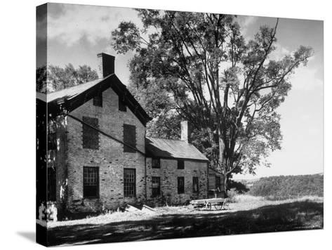 Old Brick Farmhouse-Alfred Eisenstaedt-Stretched Canvas Print