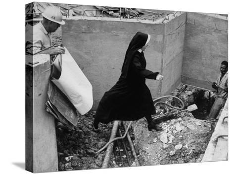 Sister Jacqueline Grennan, Executive Vice President of Webster College-Alfred Eisenstaedt-Stretched Canvas Print