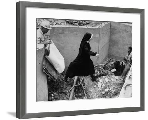 Sister Jacqueline Grennan, Executive Vice President of Webster College-Alfred Eisenstaedt-Framed Art Print