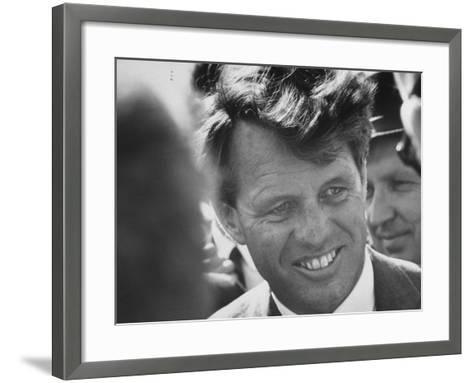 Senator Robert F. Kennedy During Campaign Trip to Help Election of Local Democrats-Bill Eppridge-Framed Art Print