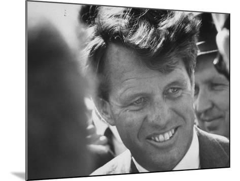 Senator Robert F. Kennedy During Campaign Trip to Help Election of Local Democrats-Bill Eppridge-Mounted Photographic Print