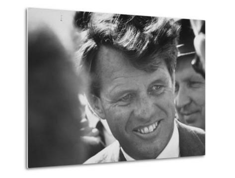 Senator Robert F. Kennedy During Campaign Trip to Help Election of Local Democrats-Bill Eppridge-Metal Print